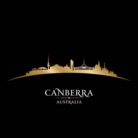 Canberra Australia city skyline silhouette. Vector illustration