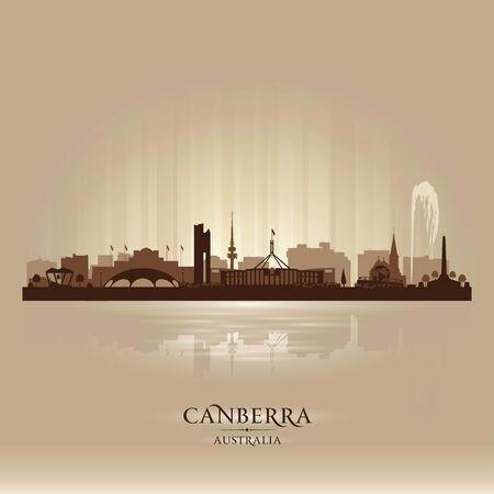 Canberra Australia city skyline vector silhouette illustration