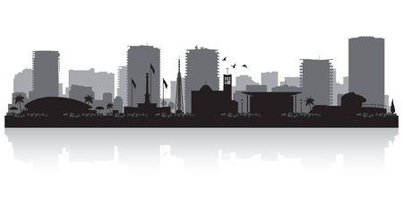 Darwin Australia city skyline vector silhouette illustration Vetores