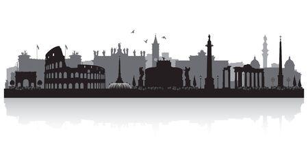 Rome Italy city skyline vector silhouette illustration Stock fotó - 149395808