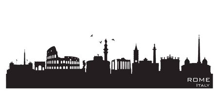 Rome Italy skyline Detailed vector silhouette Stock fotó - 149395450