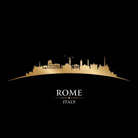 Rome Italy city skyline silhouette. Vector illustration Stockfoto - 149394952