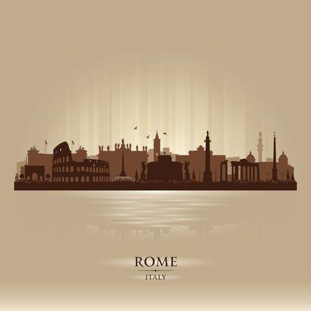 Rome Italy city skyline vector silhouette illustration Illusztráció