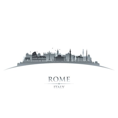 Rome Italy city skyline silhouette. Vector illustration
