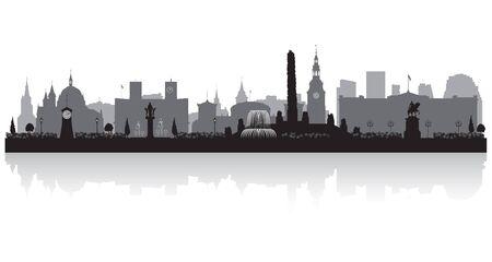 Oslo Norway city skyline vector silhouette illustration