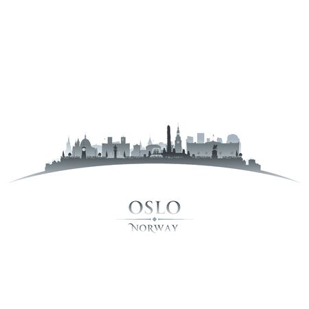 Oslo Norway city skyline silhouette. Vector illustration Stockfoto - 149395025
