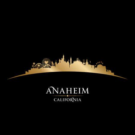 Anaheim California city skyline silhouette. Vector illustration