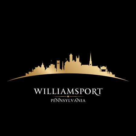 Williamsport Pennsylvania city skyline silhouette. Vector illustration