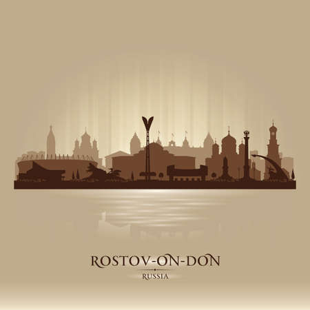 Rostov-on-Don Russia city skyline vector silhouette illustration