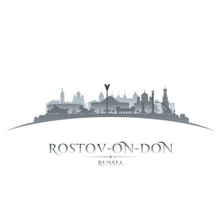 Rostov-on-Don Russia city skyline silhouette. Vector illustration