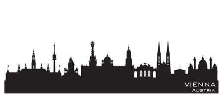 Vienna Austria skyline Detailed vector silhouette