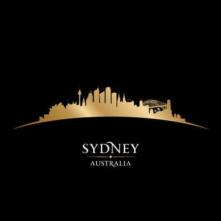 Sydney Australia city skyline silhouette. Vector illustration Vettoriali