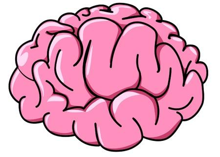 cerebral: illustration human brain in profile cartoon Illustration
