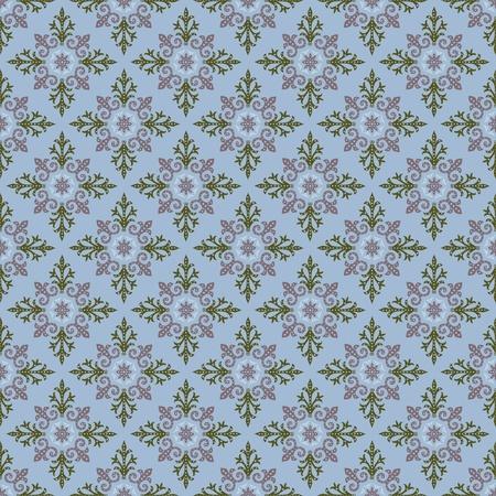 illustration plaid seamless pattern on turn blue background Vector