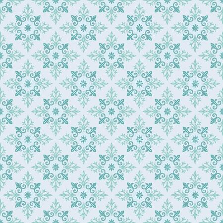 illustration cool: illustration cool seamless pattern on turn blue background Illustration