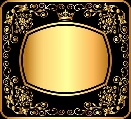 diseño de fondo de ilustración oro negro