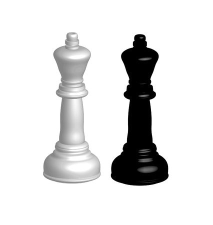understandable: The Chess figures- two kings white and black. Stock Photo