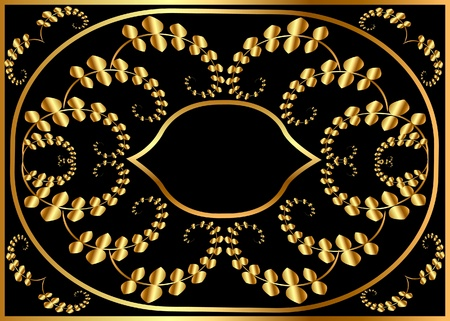 baroque picture frame: illustration pattern background frame from valid on black background