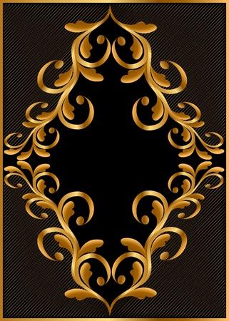 adornment: oro illustrazione (it) telaio con disegno e tratteggio