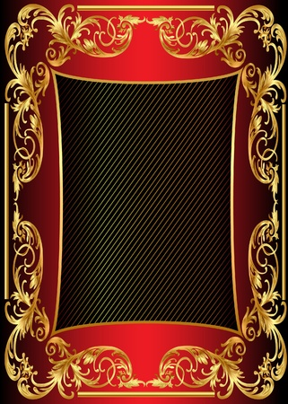 illustration background frame with gold pattern Stock Vector - 10027015