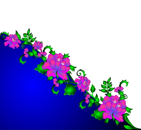 the floral pattern on turn blue the background.  photo