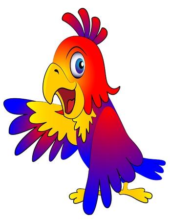 illustration amusing parrot reasons on white background