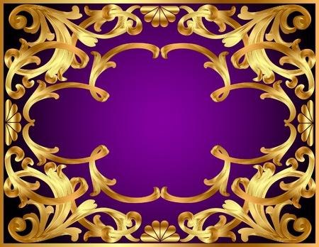 illustration de fond avec de l'or (fr) mod�le et de la vengeance pour le texte