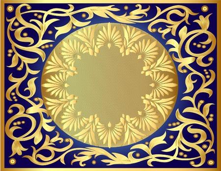 adornment: sfondo illustrazione con modello di oro e di vendetta per il testo
