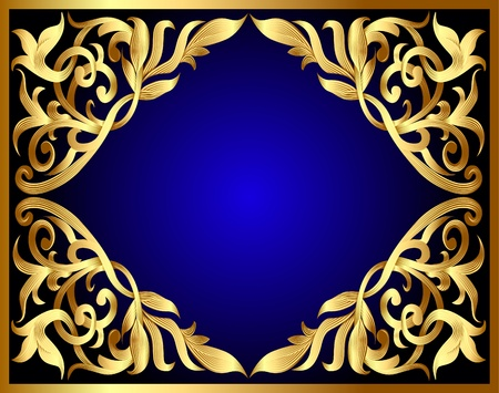 adornment:  illustration background with gold pattern and revenge for text