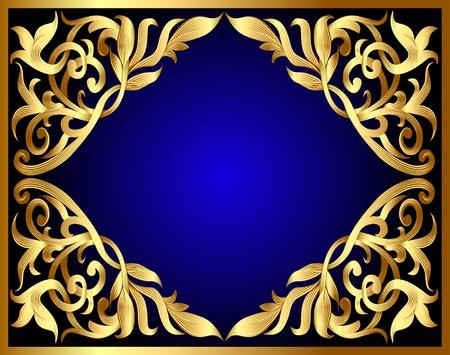adornment:  sfondo illustrazione con modello di oro e di vendetta per il testo Vettoriali