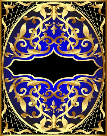 adornment: sfondo illustrazione con disegno in oro e di vendetta per il testo Vettoriali