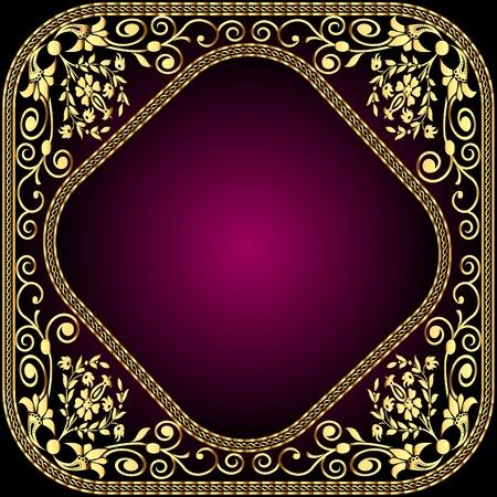 venganza: marco de ilustraci�n con el patr�n oro y venganza por texto