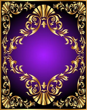 illustration winding gold pattern frame Stock Vector - 10488346