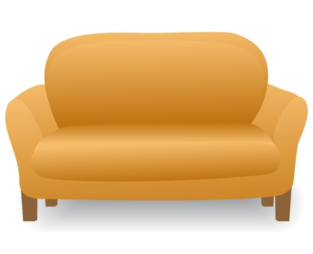 lounge: illustration soft and comfortable home modern sofa Illustration
