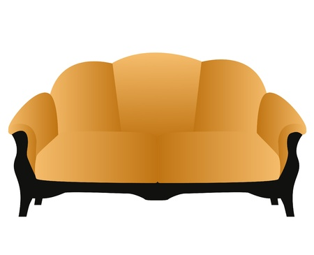 illustration soft and comfortable home modern sofa Vector
