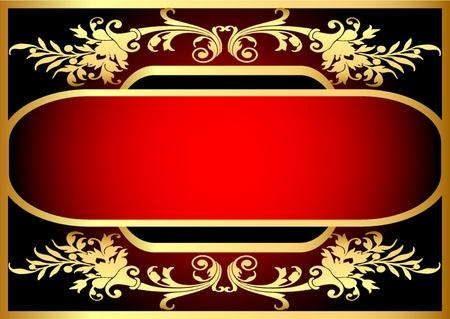label frame:  illustration frame with bright pattern on black background