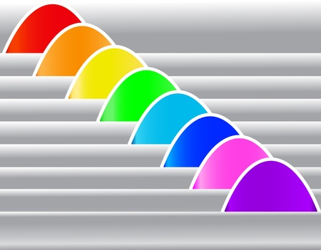 illustration set multicolored sticker for text with shade Stock Vector - 10621961