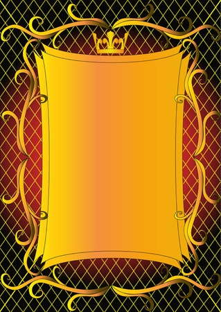 illustration a background with a pattern and a crown Vector