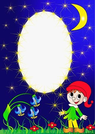 goblin:  illustration frame for photo goblin with star Illustration