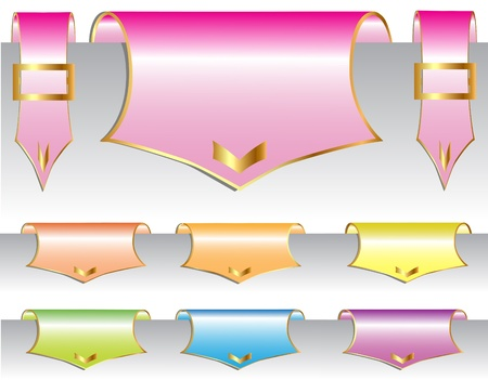 illustration set label with shade and briliance Stock Vector - 10684237