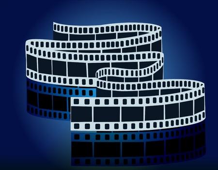 negatives: illustration piece movie films on reflecting surfaces Illustration