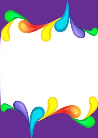 illustration violet vertical background with color drop Stock Vector - 10795845