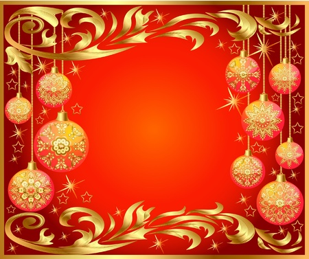 ball lights:  illustration background with festive ball with pattern Illustration
