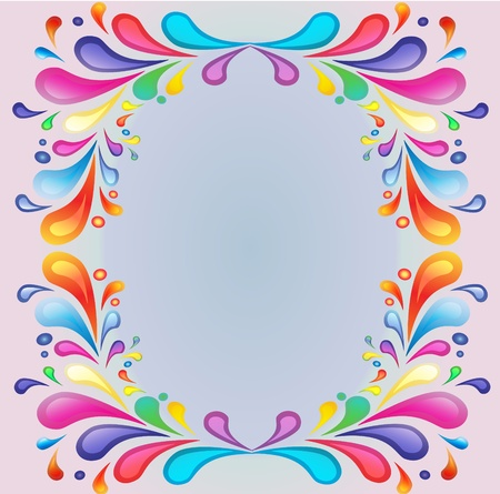 scroll shape:  background with bright color drop of the paint