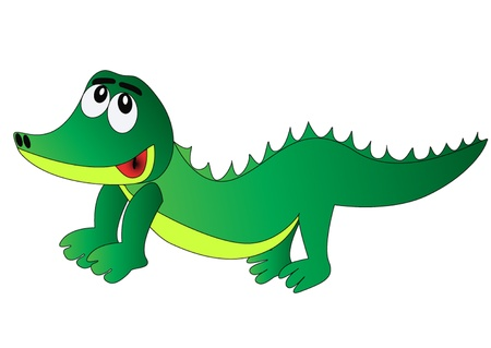 rudeness:  illustration nice merry crocodile is insulated on white Illustration