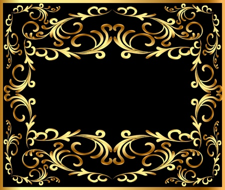 illustration background frame with vegetable gold(en) pattern Stock Vector - 11016564