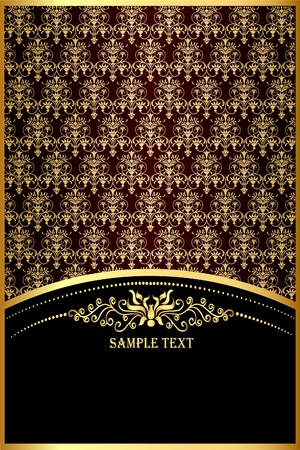 lys:  illustration background with gold(en) pattern for invitation