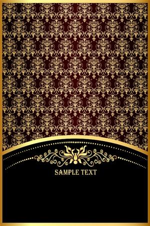 illustration background with gold(en) pattern for invitation Vector