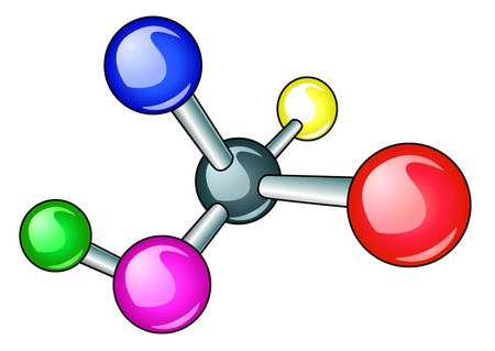 illustration brilliant molecule with electron is insulated  Stock Vector - 11125883
