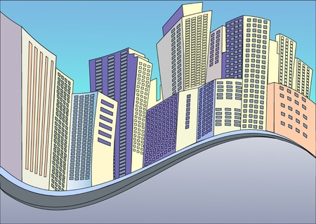 illustration background with buildings of the modern city Stock Vector - 11125882